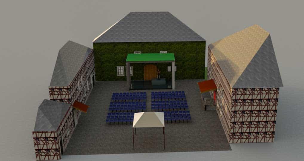 Ansicht Bühne
